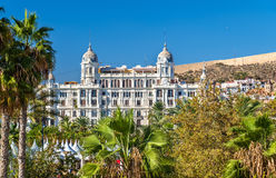 Edificio Carbonell, a historic building in Alicante, Spain. Built in 1918 Royalty Free Stock Photo