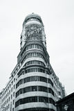 Edificio Carrion, Madrid. Madrid, Spain - 2012 April 25 : The Edificio Carrion or Schweppes building on the Gran Via of Madrid in Spain Stock Image