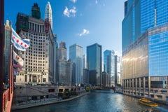 Edificio Chicago de Wrigley foto de archivo libre de regalías