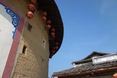 Edificio chino de la tierra Fotos de archivo libres de regalías