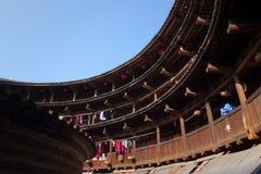 Edificio chino de la tierra Fotografía de archivo