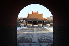 Edificio chino del pabellón Imagen de archivo libre de regalías