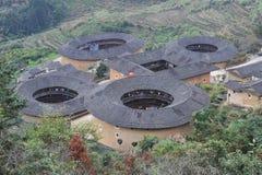 Edificio chino del tulou en Fujian Fotografía de archivo
