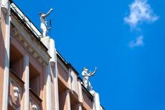 Edificio clásico de Plovdiv Foto de archivo