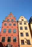 Edificio clásico en Estocolmo fotografía de archivo libre de regalías