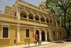 Edificio colonial portugués en Macau Foto de archivo libre de regalías