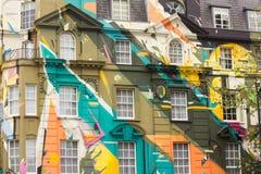 Edificio coloreado foto de archivo libre de regalías