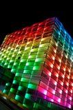 Edificio coloreado multi moderno Imagenes de archivo