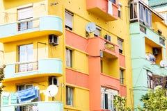 Edificio colorido del comunismo Imagen de archivo libre de regalías
