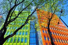 Edificio colorido en Londres, Inglaterra, Reino Unido Fotos de archivo libres de regalías