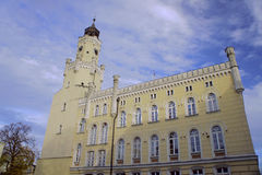 Edificio Columned Fotografía de archivo