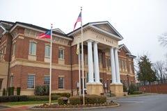 Edificio Columned fotos de archivo