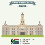 Edificio Columned Ciudad del Cabo libre illustration