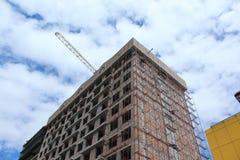 Edificio comercial bajo construcción Fotos de archivo
