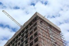 Edificio comercial bajo construcción Foto de archivo