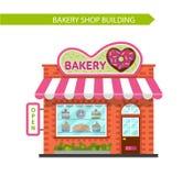 Edificio comercial de la panadería Fotos de archivo libres de regalías