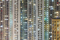 Edificio compacto en Hong Kong Foto de archivo