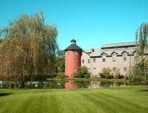Edificio con escena de la torreta Foto de archivo libre de regalías