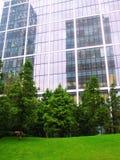 Edificio con los árboles Foto de archivo