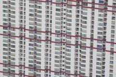 Edificio con los balcones Imagen de archivo libre de regalías