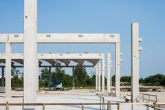 Edificio concreto de la construcción Foto de archivo