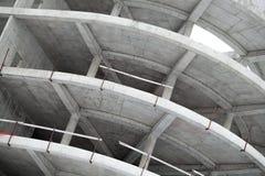 Edificio concreto industrial bajo construcción Imágenes de archivo libres de regalías