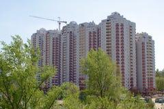 Edificio in condominio in costruzione Fotografia Stock