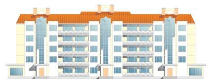 edificio in condominio del Cinque-pavimento Fotografie Stock Libere da Diritti
