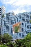 Edificio in condominio a Hong Kong Fotografia Stock Libera da Diritti