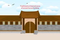 Edificio coreano de Tradional ilustración del vector
