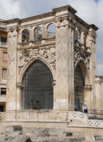 Edificio cuadrado en Lecce Fotografía de archivo