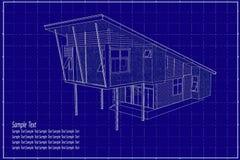 edificio 3D en modelo Fotos de archivo libres de regalías
