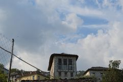 Edificio de Abandonded en mi ciudad natal imagen de archivo