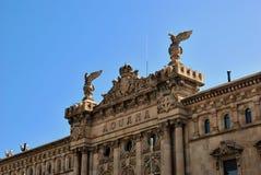 Edificio de Aduana en Barcelona Imágenes de archivo libres de regalías