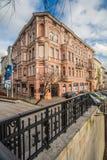 Edificio de apartamentos viejo en Bydgoszcz Imagen de archivo libre de regalías