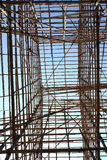 Edificio de bambú Imagen de archivo libre de regalías