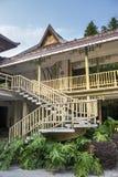 Edificio de bambú, Dai étnico, China fotos de archivo libres de regalías