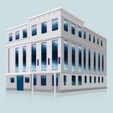 Edificio de banco blanco Ilustración del vector EPS 10 Imágenes de archivo libres de regalías