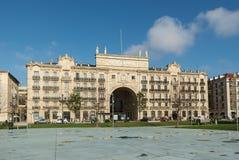 Edificio de banco de Santander Imagen de archivo libre de regalías