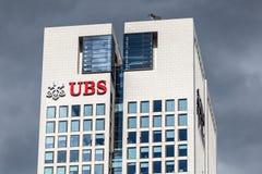 Edificio de banco de UBS en Francfort Imágenes de archivo libres de regalías