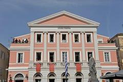 Edificio de banco jónico foto de archivo