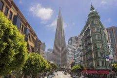 Edificio de batería de Transamerica en San Francisco Fotografía de archivo
