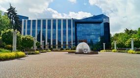 Edificio de biblioteca de universidad en Lodz Fotos de archivo libres de regalías