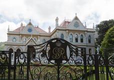 Edificio de biblioteca parlamentaria Wellington NZ Fotografía de archivo libre de regalías