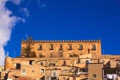 Edificio de Branciforti, Leonforte - Sicilia Imagenes de archivo