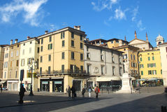Edificio de Brescia en cuadrado de la logia Imagen de archivo libre de regalías