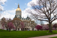 Edificio de capital de Hartford durante Imagen de archivo libre de regalías