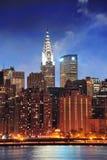 Edificio de Chrysler en New York City Manhattan Imagenes de archivo