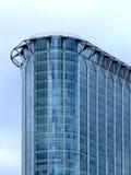 Edificio de cristal de la esquina Foto de archivo libre de regalías