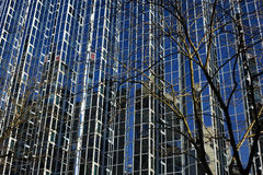 Edificio de cristal en Zagreb Imágenes de archivo libres de regalías